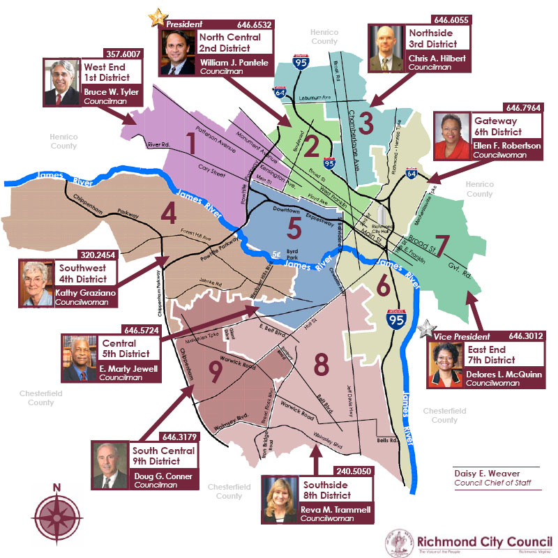 Richmond City Council District Map Richmond.takes detailed look at District 5 | Oregon Hill