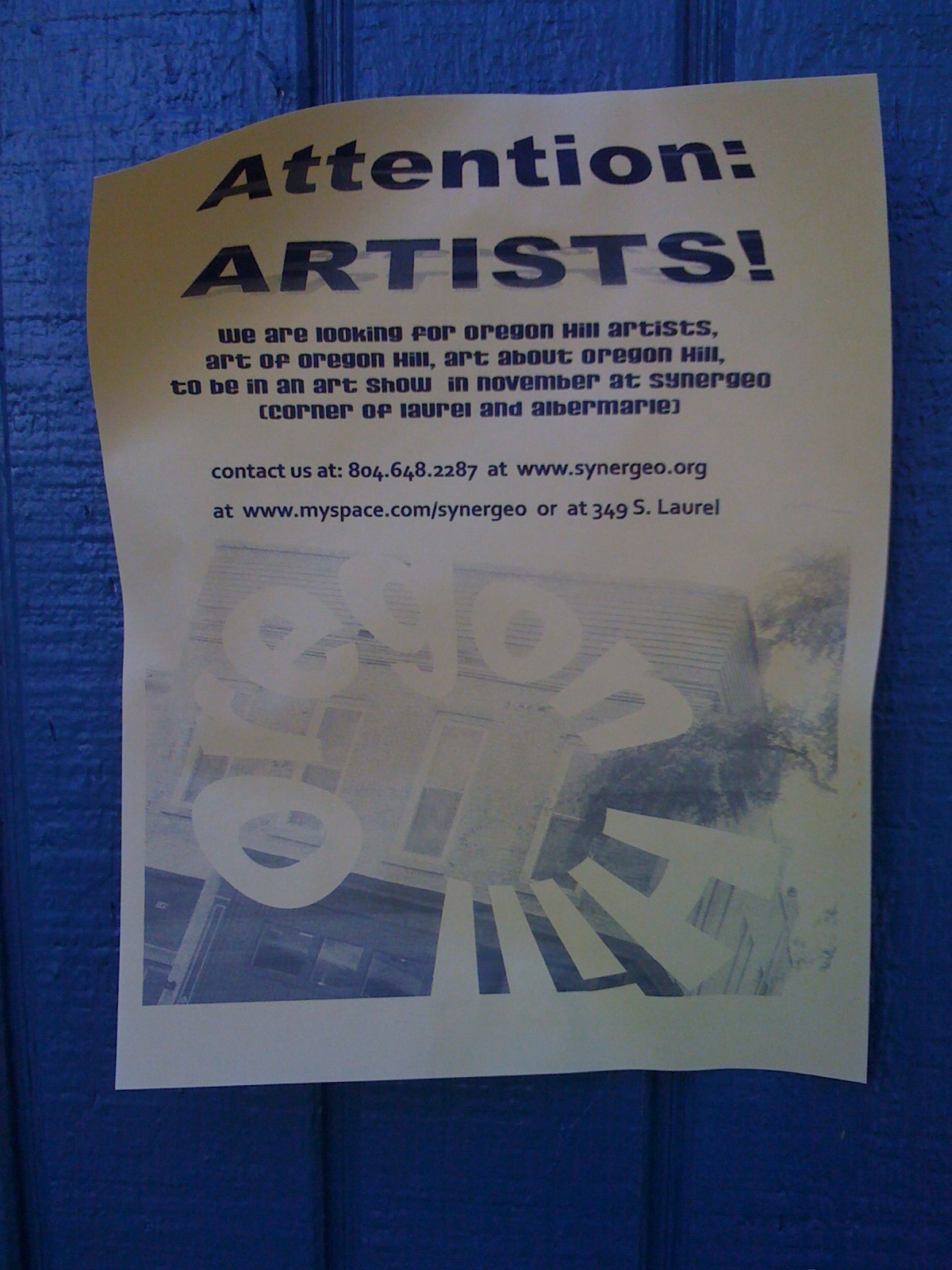 Attention Artists!