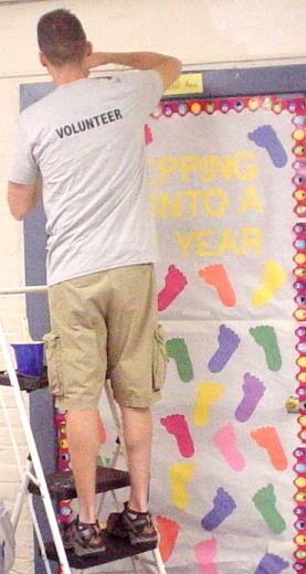 Painting walls in ECE program area