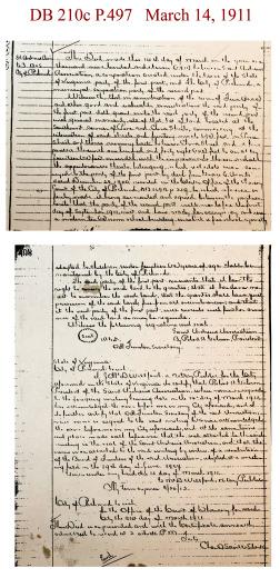 Grace Arents School deed, DB 210c P 497 March 14, 1911 copy