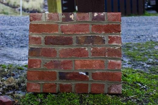 Tredegar brick test panel
