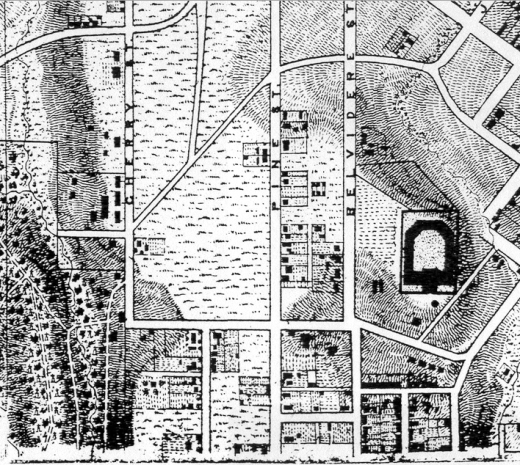 1867 Corps of Engineers map, Michie-Micheler (detail)