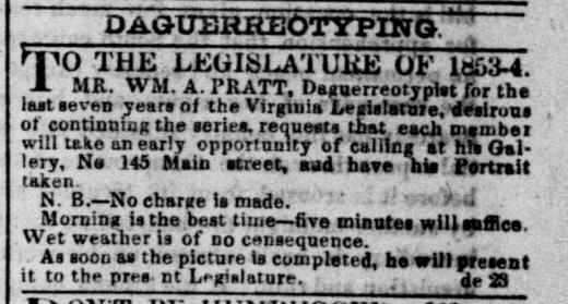 Pratt advertisement Feb 6 1854 Daily Dispatch