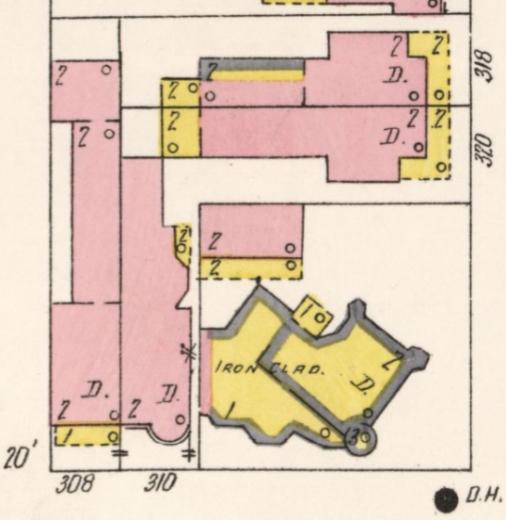 Pratt's Castle on 1905 Sanborn map